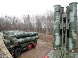 "FILE PHOTO: A new S-400 ""Triumph"" surface-to-air missile system is shown after its stationing at a military base outside the town of Gvardeysk near Kaliningrad, Russia"