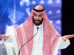 FILE PHOTO: Saudi Crown Prince Mohammed bin Salman speaks during the Future Investment Initiative Forum in Riyadh